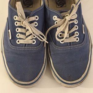 Vans size 8.5 - blue